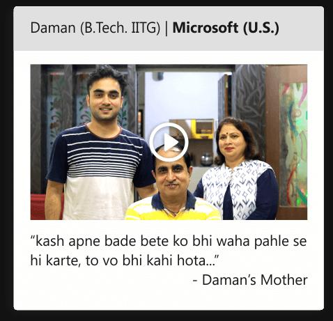 Daman (B.Tech.IITG) | Microsoft (U.S)