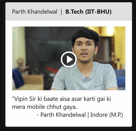 Parth Khandelwal | B.Tech (IIT-BHU)