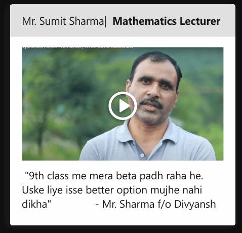 Mr. Sumit Sharma | Mathematics lecturer