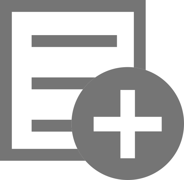 light notebook icon with plus