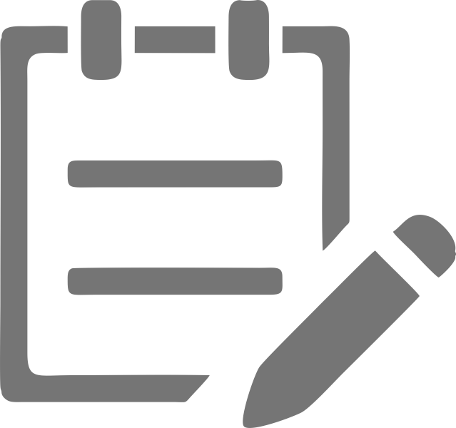 notebook icon for online test